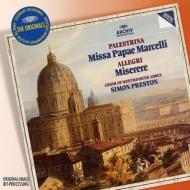 パレストリーナ:教皇マルチェルスのミサ、アレグリ:ミゼレーレ、他 プレストン&ウェストミンスター寺院聖歌隊