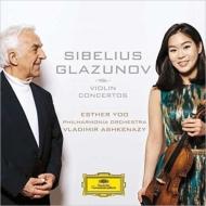 シベリウス:ヴァイオリン協奏曲、グラズノフ:ヴァイオリン協奏曲 エスター・ユー、アシュケナージ&フィルハーモニア管