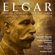 ピアノ五重奏曲(管弦楽版)、歌曲集『海の絵』(合唱と管弦楽版) ケネス・ウッズ&イギリス響、イギリス室内管、ロドルファス合唱団
