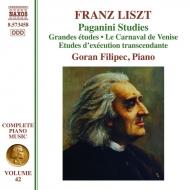 パガニーニによる超絶技巧練習曲集、パガニーニによる大練習曲(ピアノ曲全集第42巻) ゴラン・フィリペツ