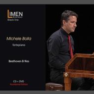 ベートーヴェン:ピアノ・ソナタ第8番『悲愴』、第21番『ワルトシュタイン』、リース:『不運』 ミケーレ・ボッラ(フォルテピアノ)(+DVD)