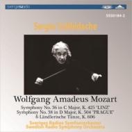 交響曲第36番『リンツ』、第38番『プラハ』、6つのレントラー風舞曲 チェリビダッケ&スウェーデン放送響