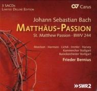 マタイ受難曲 ベルニウス&シュトゥットガルト・バロック・オーケストラ、シュトゥットガルト室内合唱団、リヒディ、イムラー、他(3SACD)