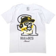 Tシャツ白【XL】 / ホークス×ハオミン【Loppi・HMV限定】