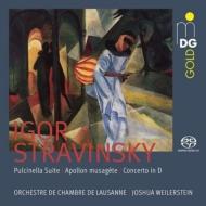 『プルチネッラ』組曲、ミューズをつかさどるアポロ、弦楽のための協奏曲 ジョシュア・ワイラースタイン&ローザンヌ室内管弦楽団