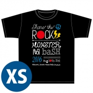 SHARE THE ROCK Tシャツ(黒)[XS] / MONSTER baSH 2016