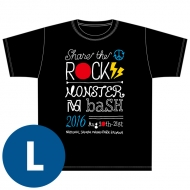 SHARE THE ROCK Tシャツ(黒)[L] / MONSTER baSH 2016