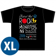 SHARE THE ROCK Tシャツ(黒)[XL] / MONSTER baSH 2016