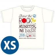 SHARE THE ROCK Tシャツ(白)[XS] / MONSTER baSH 2016
