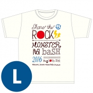SHARE THE ROCK Tシャツ(白)[L] / MONSTER baSH 2016
