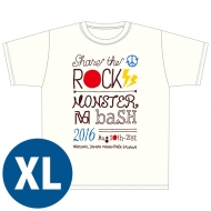 SHARE THE ROCK Tシャツ(白)[XL] / MONSTER baSH 2016