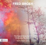 Music For String Quartet, Pianosolo Works: New England Sq Rojahn(P)