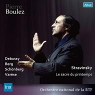 ストラヴィンスキー:春の祭典、ドビュッシー:遊戯、ヴァレーズ:アルカナ、他 ピエール・ブーレーズ&フランス国立放送管弦楽団(1963,64ステレオ・ライヴ)(2CD)