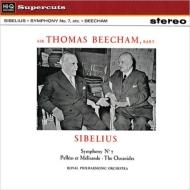 劇音楽「ペレアスとメリザンド」より、交響曲第7番:トマス・ビーチャム指揮&ロイヤル・フィルハーモニー管弦楽団 (180グラム重量盤レコード/Hi-Q Records Supercuts)