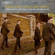 弦楽四重奏曲第5番、第6番、4つの小品よりカプリッチョとフーガ エッシャー弦楽四重奏団