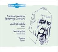 ブラームス:交響曲第4番、ベートーヴェン:ピアノ協奏曲第2番 ネーメ・ヤルヴィ&エストニア国立交響楽団、カレ・ランダル
