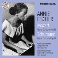 シューマン:ピアノ協奏曲、モーツァルト:ピアノ協奏曲第22番 アニー・フィッシャー、ロスバウト&シュトゥットガルト放送響、ミュラー=クライ&南西ドイツ放送響