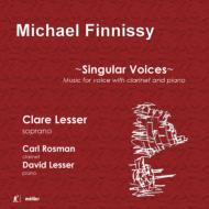 Singular Voices-music For Voice With Clarinet & Piano: C.lesser(S)Rosman(Cl)D.lesser(P)
