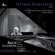 タチアーナ・ニコラーエワ、1989年ギリシャ・ライヴ〜バッハ:3声のリチェルカーレ、シューマン:交響的練習曲、スクリャービン:悲劇的な詩、他