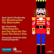 Tchaikovsky Nutcracker, Stravinsky Divertimento from Le Baiser de la Fee : Dmitri Kitayenko / Cologne Gurzenich Orchestra(2CD)