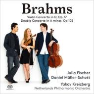 ヴァイオリン協奏曲、二重協奏曲 ユリア・フィッシャー、ダニエル・ミュラー=ショット、ヤコフ・クライツベルク&オランダ・フィル