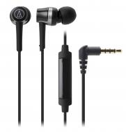 オーディオテクニカ スマートフォン用インナーイヤーヘッドホン ATH-CKR30iS BK (ブラック)