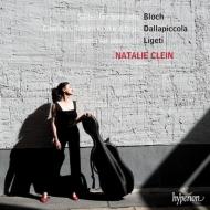 ブロッホ:無伴奏チェロ組曲第1番、第2番、第3番、リゲティ:無伴奏チェロ・ソナタ、ダラピッコラ:『チャッコーナ、インテルメッツォとアダージョ』 ナタリー・クライン