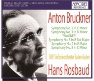 交響曲第2,3,5,7,8番 ハンス・ロスバウト&南西ドイツ放送交響楽団(1953-60)(5CD)