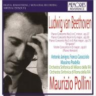 ピアノ協奏曲第3番、第4番、第5番『皇帝』、ヴァイオリン協奏曲(ピアノ版) マウリツィオ・ポリーニ、アントニオ・ヤニグロ&ミラノRAI交響楽団、他(1959-66)(2CD)