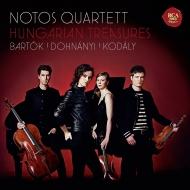バルトーク:ピアノ四重奏曲、ドホナーニ:ピアノ四重奏曲第1番、コダーイ:間奏曲 ノトス・カルテット