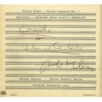 グラス:ヴァイオリン協奏曲第1番、バーンスタイン:セレナード ルノー・カプソン、デニス・ラッセル・デイヴィス&リンツ・ブルックナー管弦楽団