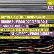 ヴァイオリン協奏曲、ピアノ協奏曲第1番 フランク・ペーター・ツィンマーマン、エマニュエル・アックス、ベルナルド・ハイティンク&コンセルトヘボウ管弦楽団(2SACD)