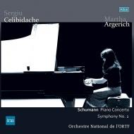ピアノ協奏曲、交響曲第2番:マルタ・アルゲリッチ(ピアノ)、セルジウ・チェリビダッケ指揮&フランス国立放送管弦楽団 (2枚組アナログレコード/Altus)