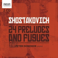 24の前奏曲とフーガ ピーター・ドノホー(2CD)