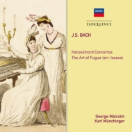 バッハ(1685-1750)/Die Kunst Der Fuge: Malcolm / Philomusica Of London +keyboard Concerto 1 2 : Munch