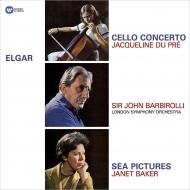 チェロ協奏曲、海の絵:ジャクリーヌ・デュ・プレ、ジャネット・ベイカー、ジョン・バルビローリ指揮&ロンドン交響楽団 (180グラム重量盤レコード/Warner Classics)