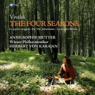 「四季」:アンネ=ゾフィー・ムター(ヴァイオリン)、カラヤン指揮&ウィーン・フィルハーモニー管弦楽団 (180グラム重量盤レコード/Warner Classics)