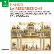 ヘンデル(1685-1759)/La Resurrezione: Koopman / Amsterdam Baroque N.argenta Schlick Laurens De Mey Merten