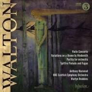 ヒンデミットの主題による変奏曲、ヴァイオリン協奏曲、パルティータ、『スピットファイア』前奏曲とフーガ マーティン・ブラビンズ&BBCスコティッシュ響、マーウッド