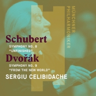 ドヴォルザーク:交響曲第9番『新世界より』(1985)、シューベルト:交響曲第8番『未完成』(1988) セルジウ・チェリビダッケ&ミュンヘン・フィル