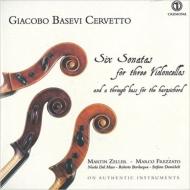Sonatas For 3 Cellos: M.zeller Frezzato(Vc)Dal Maso Bevilacqua(Cb)Demicheli(Cemb, Organ)