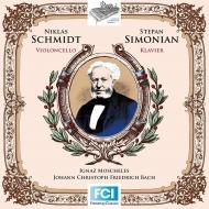 モシェレス:バッハの平均律クラヴィーア曲集に基づくメロディックな対位法練習曲、J.C.F.バッハ:チェロ・ソナタ ニクラス・シュミット、ステパン・シモニアン
