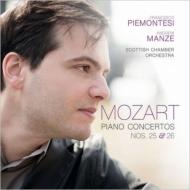 ピアノ協奏曲第25番、第26番『戴冠式』 フランチェスコ・ピエモンテージ、アンドルー・マンゼ&スコットランド室内管弦楽団