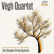 ベートーヴェン:弦楽四重奏曲全集(1952)、バルトーク:弦楽四重奏曲全集(1954) ヴェーグ四重奏団(10CD)