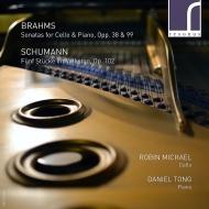 ブラームス:チェロ・ソナタ第1番、第2番、シューマン:民謡風の5つの小品 ロビン・マイケル、ダニエル・トン