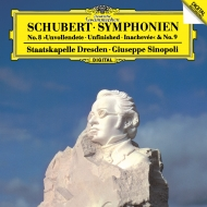 交響曲第8番『未完成』、第9番『グレート』 ジュゼッペ・シノーポリ&シュターツカペレ・ドレスデン