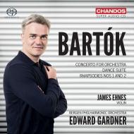 管弦楽のための協奏曲、舞踏組曲、ラプソディ第1番、第2番 エドワード・ガードナー&ベルゲン・フィル、ジェイムズ・エーネス