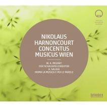 モーツァルト:『劇場支配人』、サリエリ:『まずは音楽、おつぎが言葉』 ニコラウス・アーノンクール&ウィーン・コンツェントゥス・ムジクス(2002 ステレオ)(2CD)