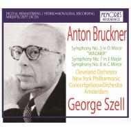 交響曲第3番(クリーヴランド管、1966年ステレオ)、第7番(ニューヨーク・フィル、1964年)、第8番(コンセルトヘボウ管、1951年) ジョージ・セル(3CD)