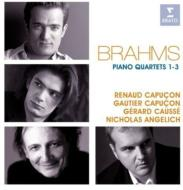 Piano Quartet, 1, 2, 3, : Angelich(P)R.capucon(Vn)Causse(Va)G.capucon(Vc)